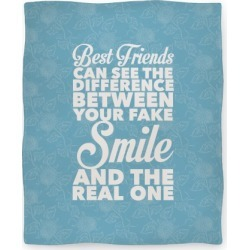 Best Friends Know The Real Smile Blanket from LookHUMAN found on Bargain Bro India from LookHUMAN for $59.99