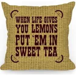 When Life Gives You Lemons Throw Pillow from LookHUMAN found on Bargain Bro Philippines from LookHUMAN for $34.99