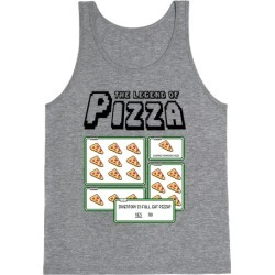 Pixel Pizza Inventory Tank Top from LookHUMAN