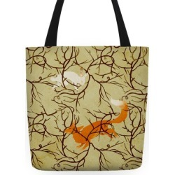 Rabbit And The Fox Chase Tote Bag from LookHUMAN
