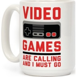 Video Games Are Calling Mug from LookHUMAN found on GamingScroll.com from LookHUMAN for $17.99