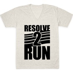 Resolve 2 Run V-Neck T-Shirt from LookHUMAN