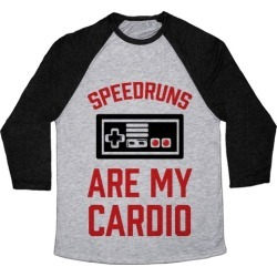Speedruns are My Cardio Baseball Tee from LookHUMAN