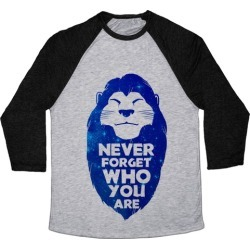 Never Forget Who You Are(Mufasa) Baseball Tee from LookHUMAN