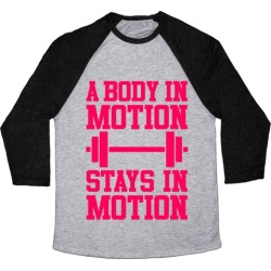 A Body In Motion Baseball Tee from LookHUMAN found on Bargain Bro Philippines from LookHUMAN for $29.99