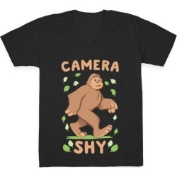 Camera Shy V-Neck T-Shirt from LookHUMAN found on Bargain Bro Philippines from LookHUMAN for $27.99