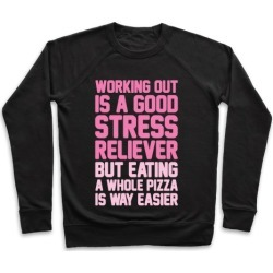 Pizza Workout Pullover from LookHUMAN