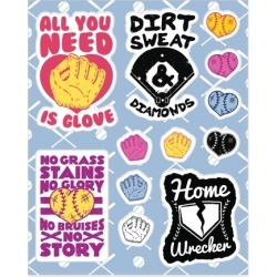 Softball Stickers from LookHUMAN