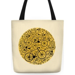 All Bikes Go Full Circle Tote Bag from LookHUMAN