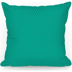 Gray And Teal Triangle Pattern Throw Pillow from LookHUMAN found on Bargain Bro from LookHUMAN for USD $28.87