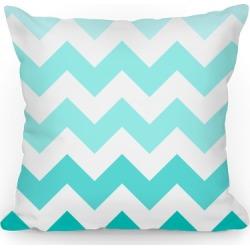 Chevron Pillow (Diamond Blue) Throw Pillow from LookHUMAN