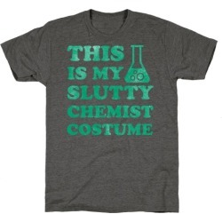 This is My Slutty Chemist Costume T-Shirt from LookHUMAN found on Bargain Bro Philippines from LookHUMAN for $25.99