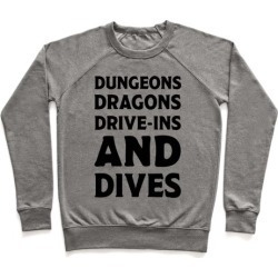 Dungeons Dragons Drive-ins And Dives Pullover from LookHUMAN