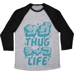 Thug Life (Japanese Katakana) Baseball Tee from LookHUMAN