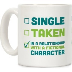 Dating A Fictional Character Mug from LookHUMAN found on Bargain Bro Philippines from LookHUMAN for $14.99