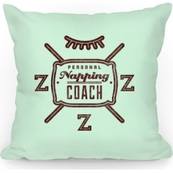 Personal Napping Coach Throw Pillow from LookHUMAN found on Bargain Bro Philippines from LookHUMAN for $22.99