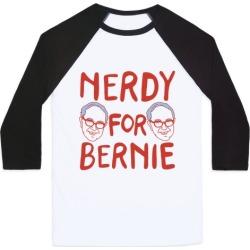 Nerdy For Bernie Baseball Tee from LookHUMAN