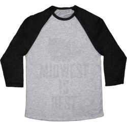 Midwest Is Best Baseball Tee from LookHUMAN