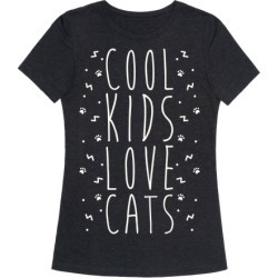 Cool Kids Love Cats T-Shirt from LookHUMAN