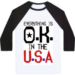 U.S.A. O.K. Baseball Tee from LookHUMAN found on Bargain Bro Philippines from LookHUMAN for $29.99