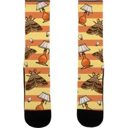 Moth & Lamp Pattern Socks from LookHUMAN