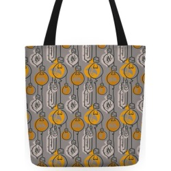 Moth And Wallflower Indie Lights Pattern Tote Bag from LookHUMAN found on Bargain Bro India from LookHUMAN for $24.99