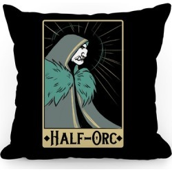 Half-Orc - Dungeons and Dragons Throw Pillow from LookHUMAN