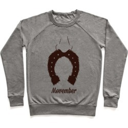 Horseshoe Mustache Pullover from LookHUMAN