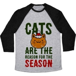 Cats are the Reason for the Season Baseball Tee from LookHUMAN