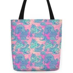 Skulls and Flowers Tote Bag from LookHUMAN