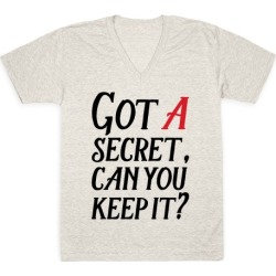 Got A Secret Can You Keep it? V-Neck T-Shirt from LookHUMAN