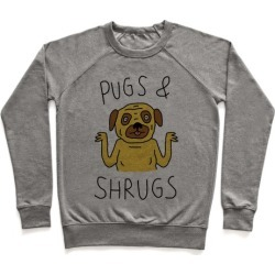 Pugs And Shrugs Dog Pullover from LookHUMAN