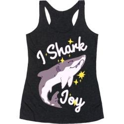 I Shark Joy Racerback Tank from LookHUMAN