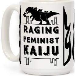 Raging Feminist Kaiju Mug from LookHUMAN