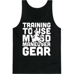 Training To use My 3D Maneuver Gear Tank Top from LookHUMAN found on Bargain Bro Philippines from LookHUMAN for $25.99
