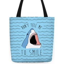 Don't Tell Me To Smile Tote Bag from LookHUMAN found on Bargain Bro Philippines from LookHUMAN for $27.99