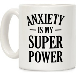 Anxiety Is My Superpower Mug from LookHUMAN
