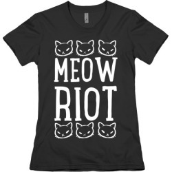 Meow Riot T-Shirt from LookHUMAN