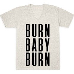 Burn Baby Burn V-Neck T-Shirt from LookHUMAN