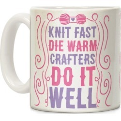 Knit Fast, Die Warm Mug from LookHUMAN found on Bargain Bro from LookHUMAN for USD $11.39