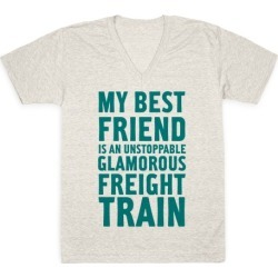 Glamorous Freight Train V-Neck T-Shirt from LookHUMAN found on MODAPINS from LookHUMAN for USD $27.99