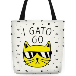 I Gato Go Tote Bag from LookHUMAN