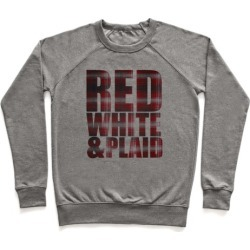 Red White and Plaid Pullover from LookHUMAN