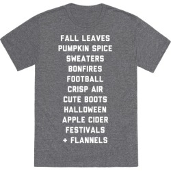 Fall Bucket List T-Shirt from LookHUMAN
