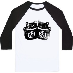 Luck Cats Distressed Baseball Tee from LookHUMAN