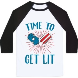 Time To Get Lit Baseball Tee from LookHUMAN