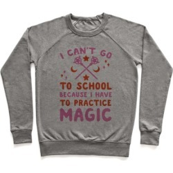 I Can't Go To School Because I Have To Practice Magic Pullover from LookHUMAN