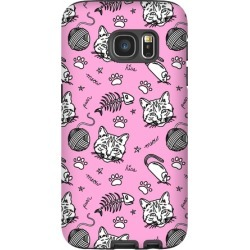 Cats and Cat Toys Pattern Phone Case from LookHUMAN