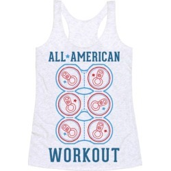 All American Workout Racerback Tank from LookHUMAN
