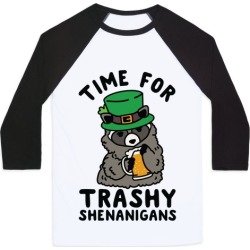 Time For Trashy Shenanigans Racoon Baseball Tee from LookHUMAN